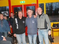 Claude Llamas, Gerrit Hiemstra en Frans- Jan Hengst winnen Stienen Man Toernooi bij Boulegoed