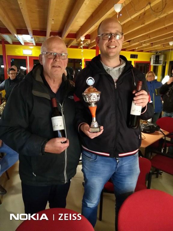 Rein Koning en Mark Norder clubkampioenen doublette 2019