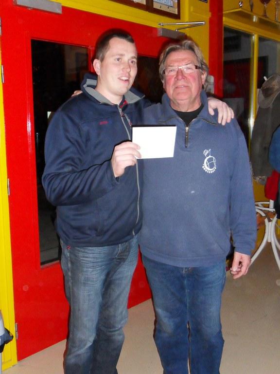 Wouter Hoekstra en Gerrit Hiemstra winnaars Open Harlinger boulodrome toernooi